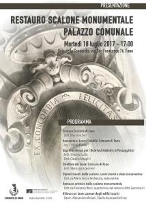 Restauro Scalone Monumentale di Fano