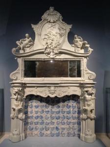 L'opera in esposizione dopo il restauro.